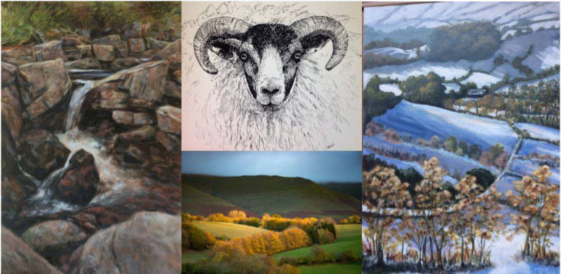 Theatr Brycheiniog 'An Art Tour of The Border Country' exhibition 6th – 20th May 2017